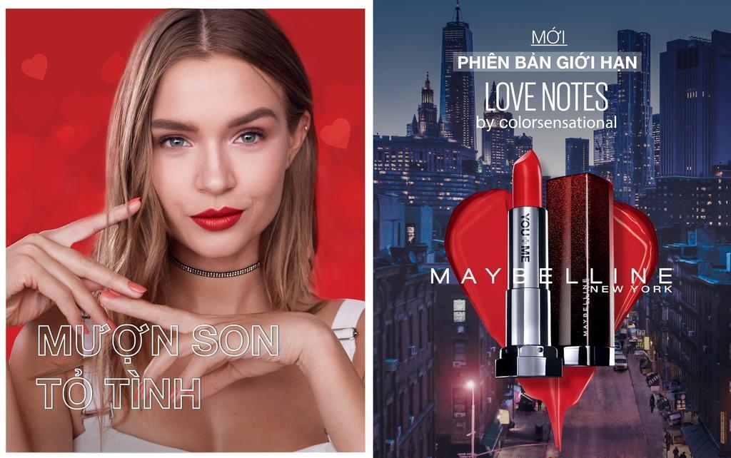 Son Lì Mịn Môi Phiên Bản Giới Hạn Love Notes Maybelline Color Sensational Love Notes Lipstick