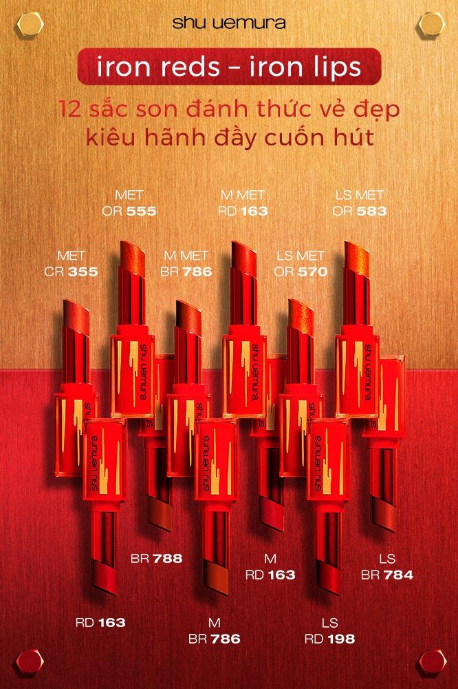 Son Lì Shu Uemura Iron Reds Rouge Unlimited Matte Lipstick Phiên Bản Giới Hạn Tết