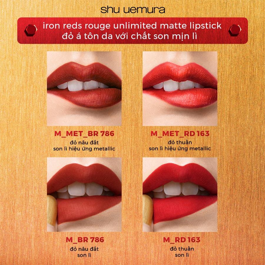 Son Lì Lâu Trôi Shu Uemura Iron Reds Rouge Unlimited Matte Lipstick Phiên Bản Giới Hạn Tết hiện đã có mặt tại Hasaki