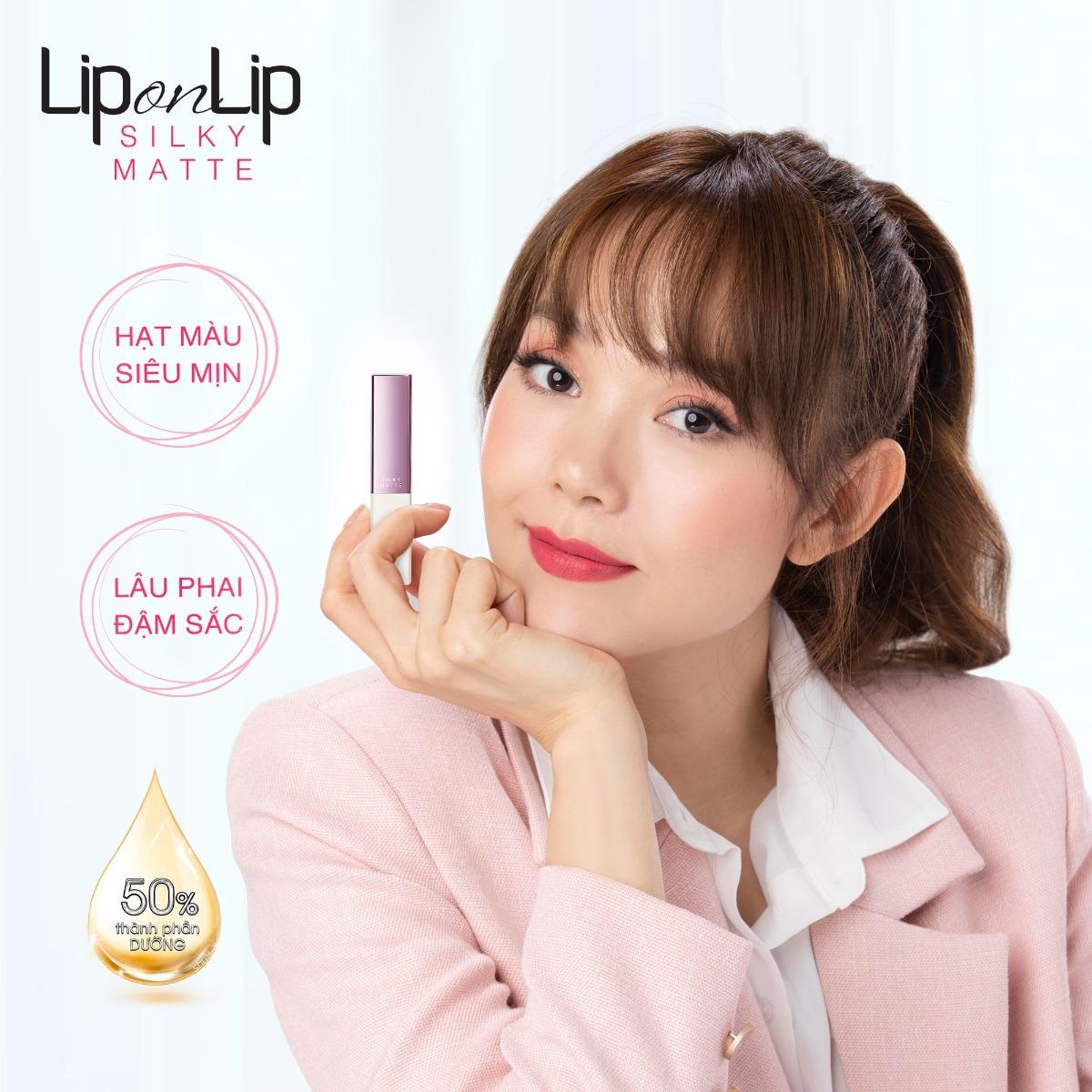 Son Lì Siêu Mịn Dưỡng Tối Ưu Lip On Lip Silky Matte 2.2g hiện đã có mặt tại Hasaki
