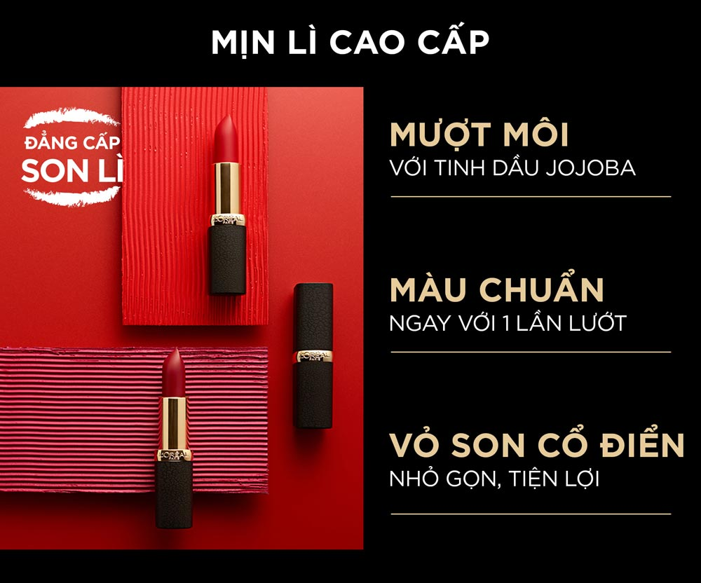 Son Mịn Lì Cao Cấp L'Oréal Paris Color Riche Matte 3.7g hiện đã có mặt tại Hasaki