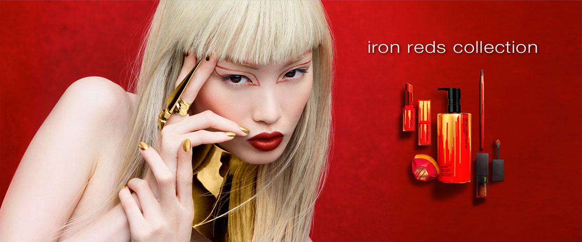 Bộ Sưu Tập Son Shu Uemura Iron Reds Rouge Unlimited Central Lipstick Phiên Bản Giới Hạn Tết