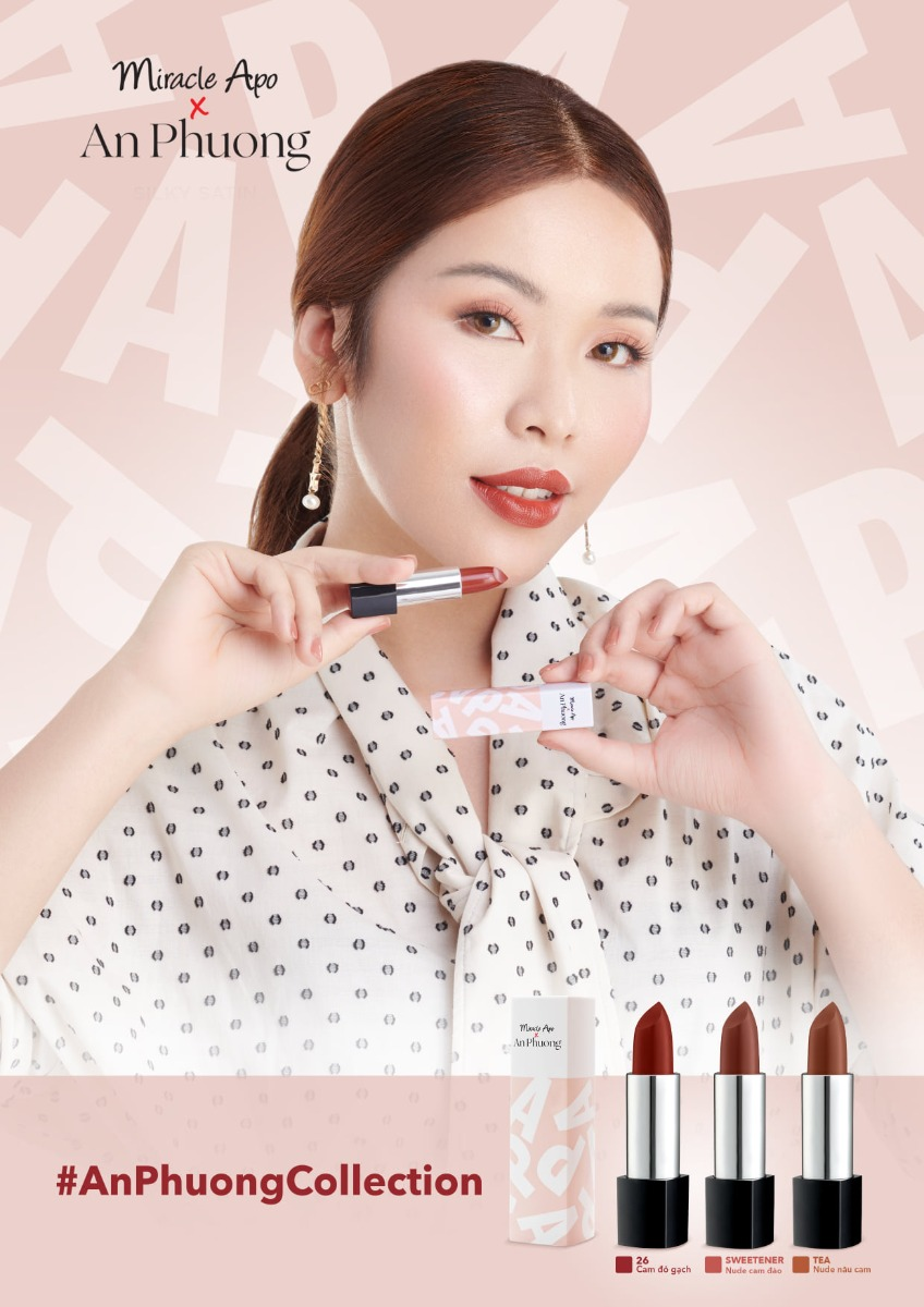 Son Thỏi Miracle Apo x An Phương Holiday Collection Lipstick 3g