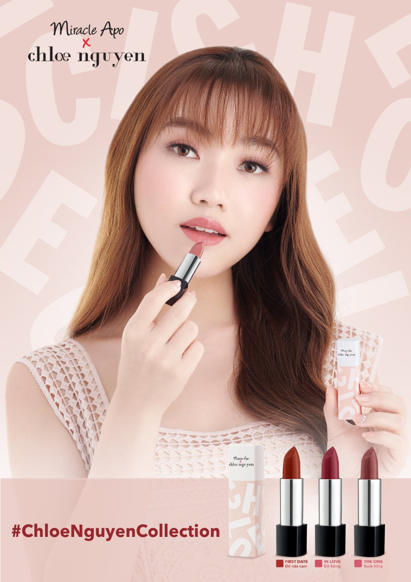 Son Thỏi Miracle Apo x Chloe Nguyễn Holiday Collection Lipstick 3g