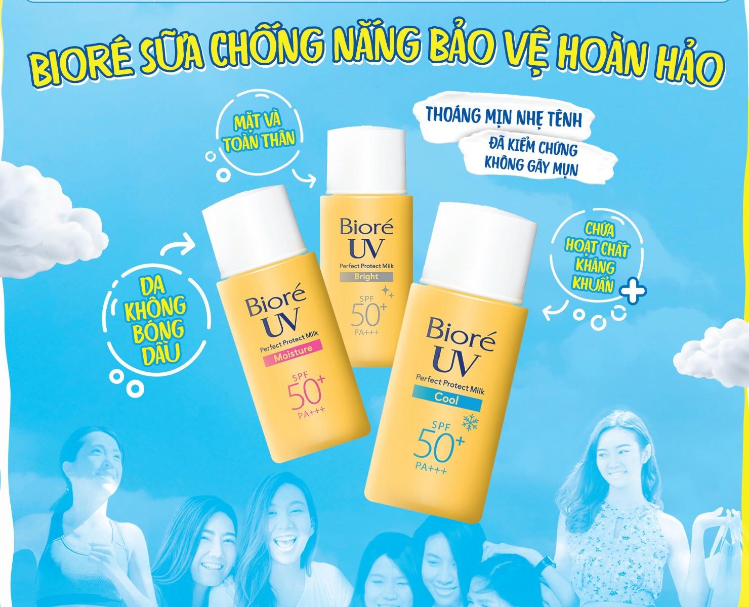 Hiện Sữa Chống Nắng Bảo Vệ Hoàn Hảo Bioré UV Perfect Protect Milk SPF50/PA+++ đã có mặt tại Hasaki với 3 phân loại cho bạn lựa chọn.