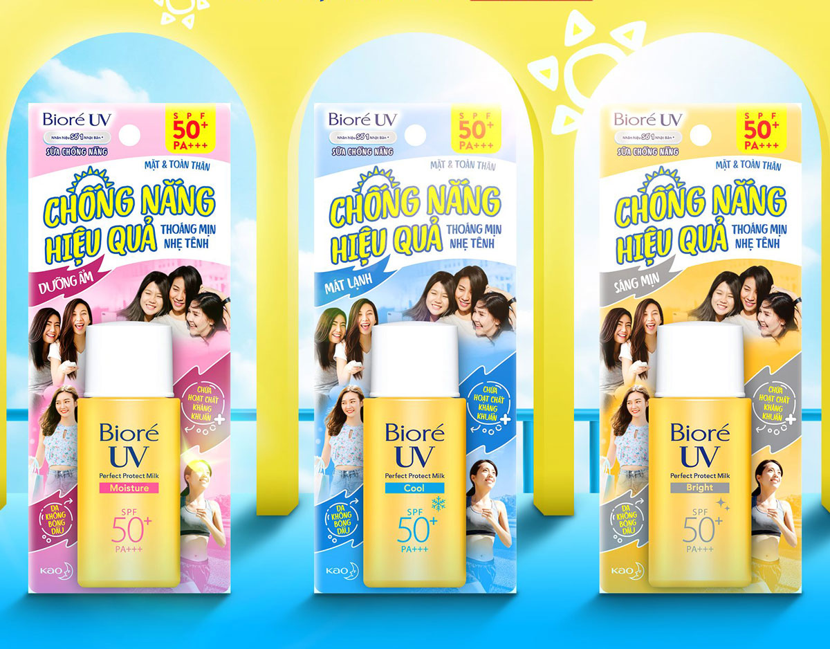 Sữa Chống Nắng Bảo Vệ Hoàn Hảo Bioré UV Perfect Protect Milk SPF50/PA+++