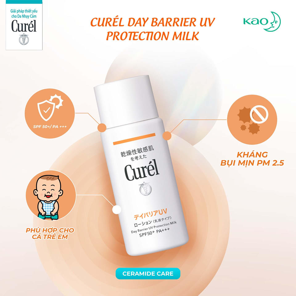 Sữa Chống Nắng Curél Day Barrier UV Protection Milk SPF50+ PA+++