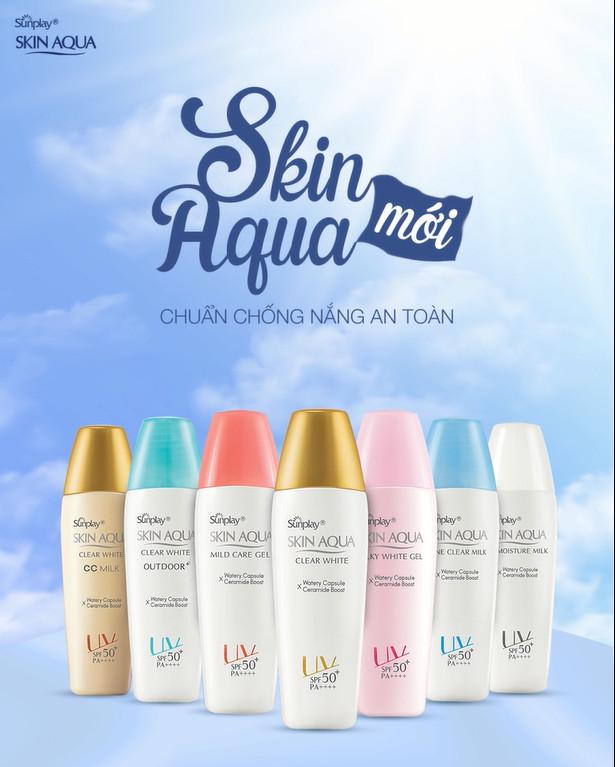 Sữa Chống Nắng Sunplay Skin Aqua Clear White SPF50+ PA++++ tạo lớp nền sáng mịn