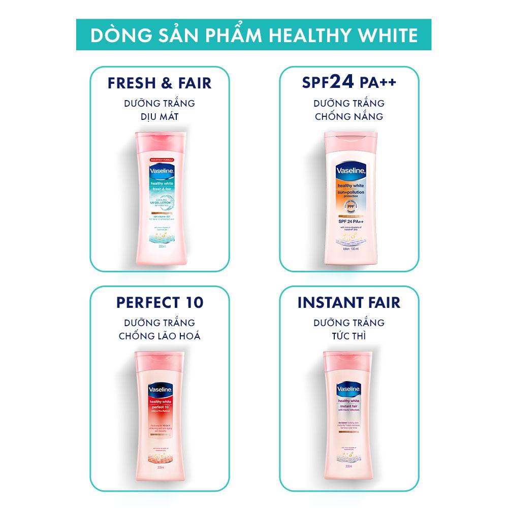 Bộ sưu tập Sữa Dưỡng Thể Vaseline Healthy White