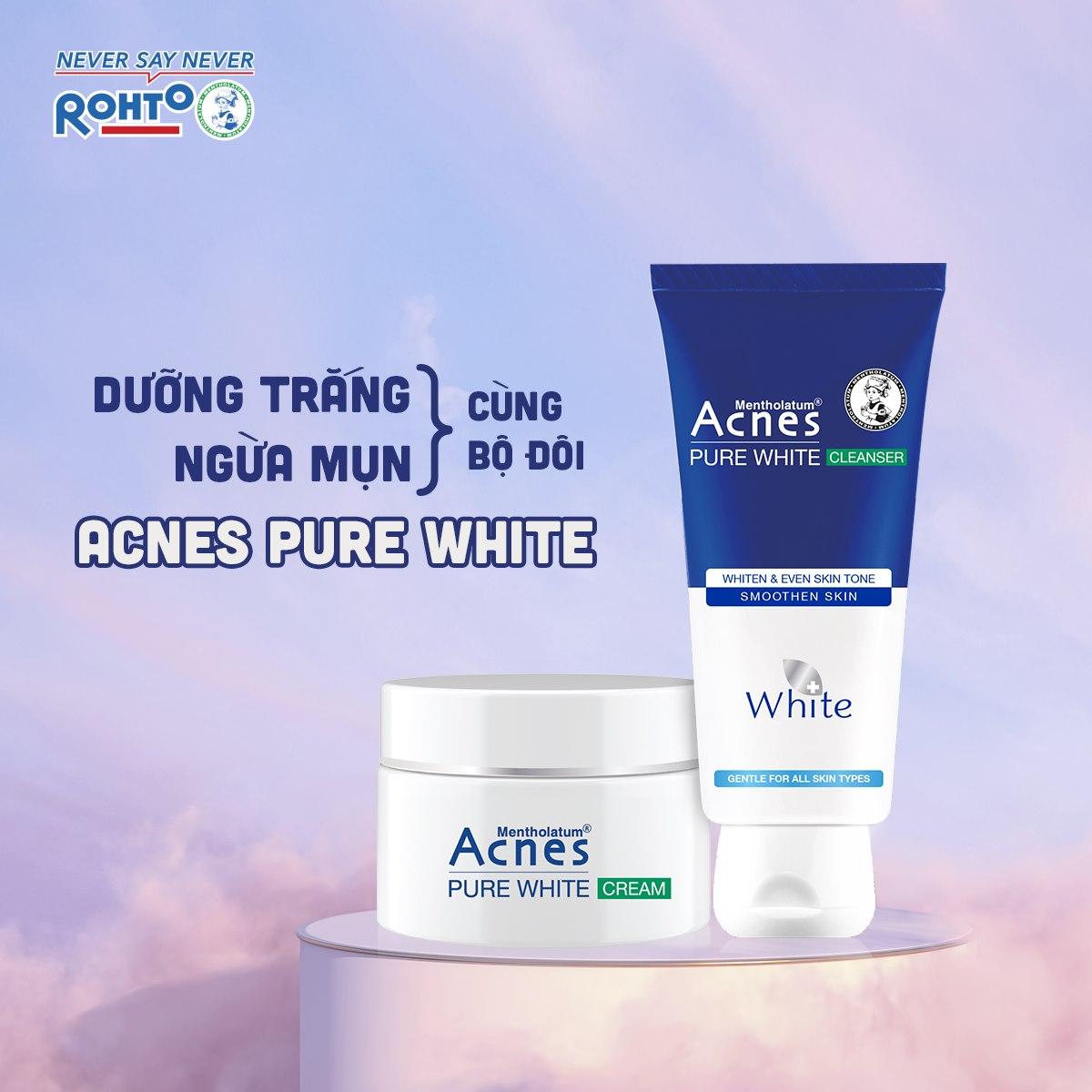 Sử dụng trọn bộ Acnes Pure White để đạt hiệu quả dưỡng sáng da, ngăn ngừa mụn tối ưu nhất