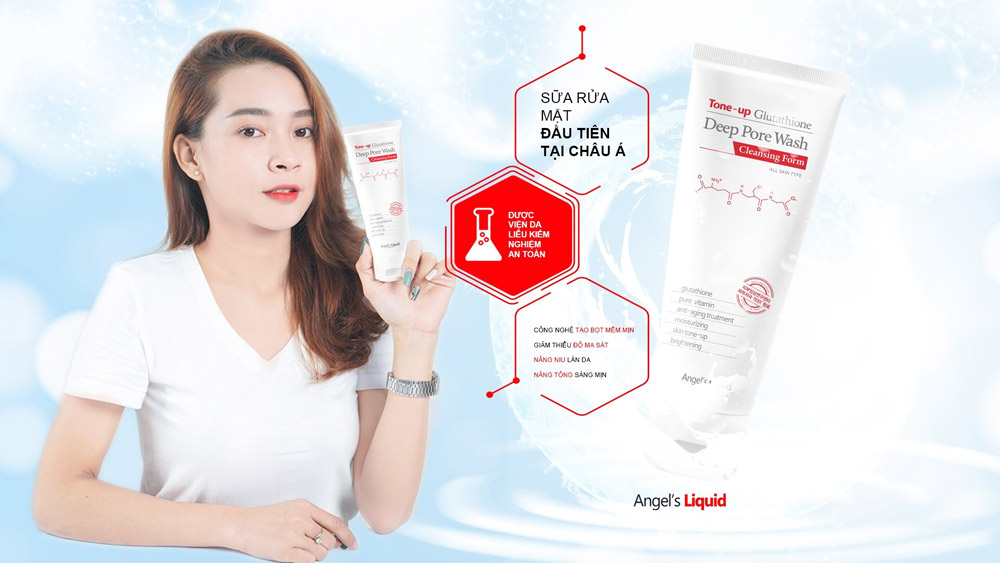 Sữa Rửa Mặt Angel's Liquid Làm Sạch, Dưỡng Sáng Da Tone-Up Glutathione Deep Pore Wash Cleansing Foam