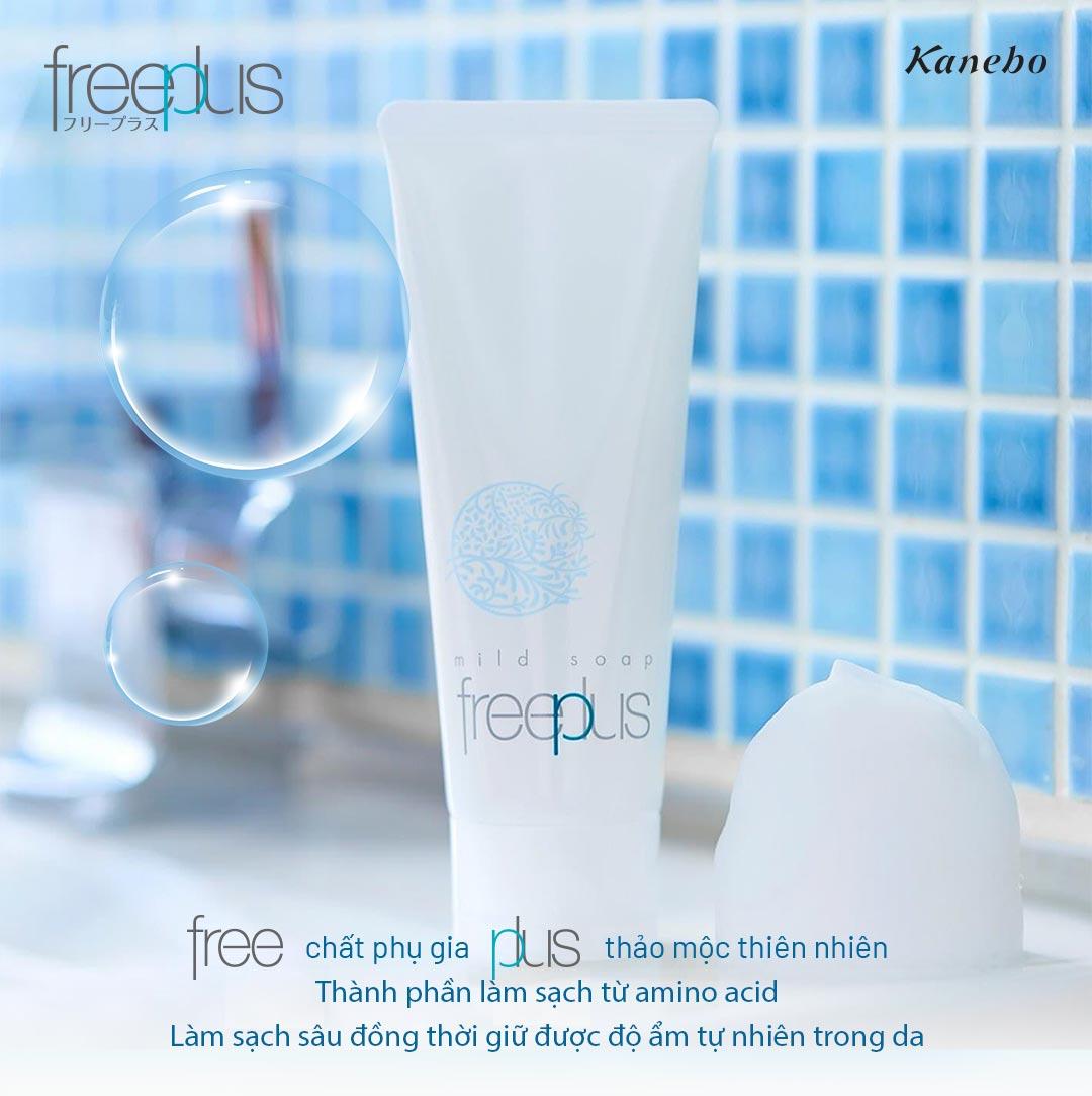 Sữa Rửa Mặt Dưỡng Ẩm Dịu Nhẹ Cho Da Freeplus Mild Soap A 100g