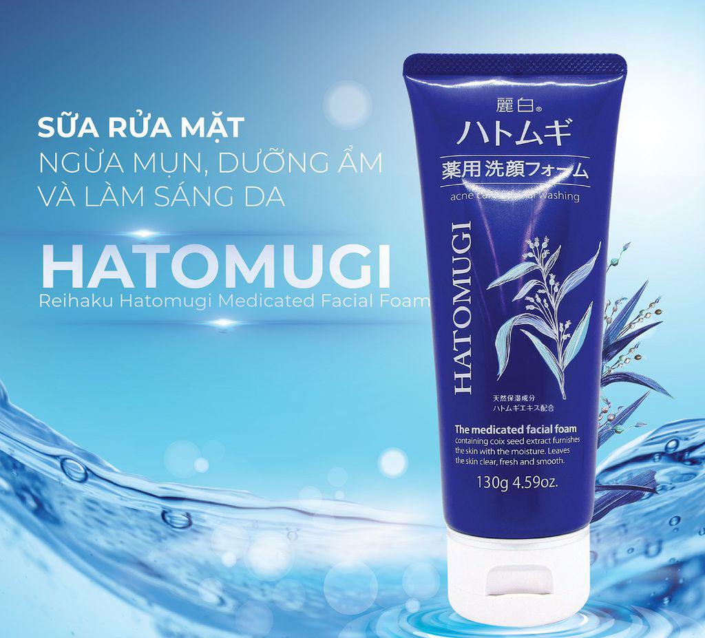 Sữa Rửa Mặt Hatomugi The Medicated Facial Foam