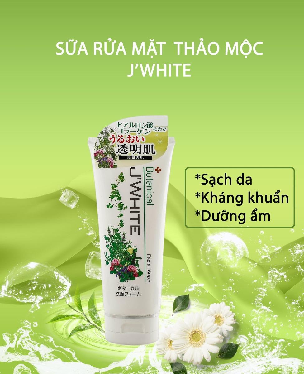 Sữa rửa mặt J'WHITE Botanical Facial Wash chiết xuất thảo mộc hiện đã có mặt tại Hasaki