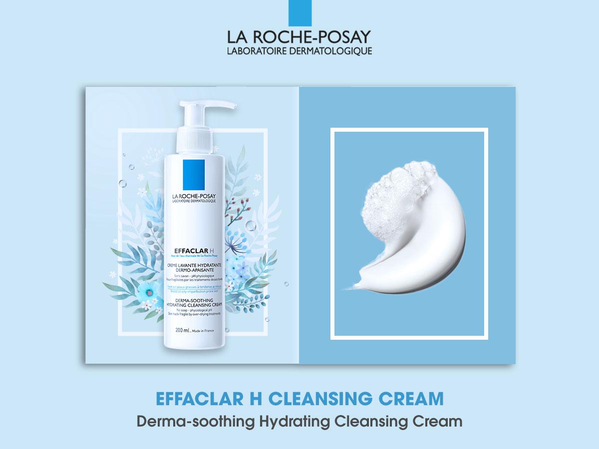 Sữa Rửa Mặt Cấp Ẩm Cho Da Dầu Mụn La Roche-Posay Effaclar H Derma-Soothing Hydrating Cleansing Cream