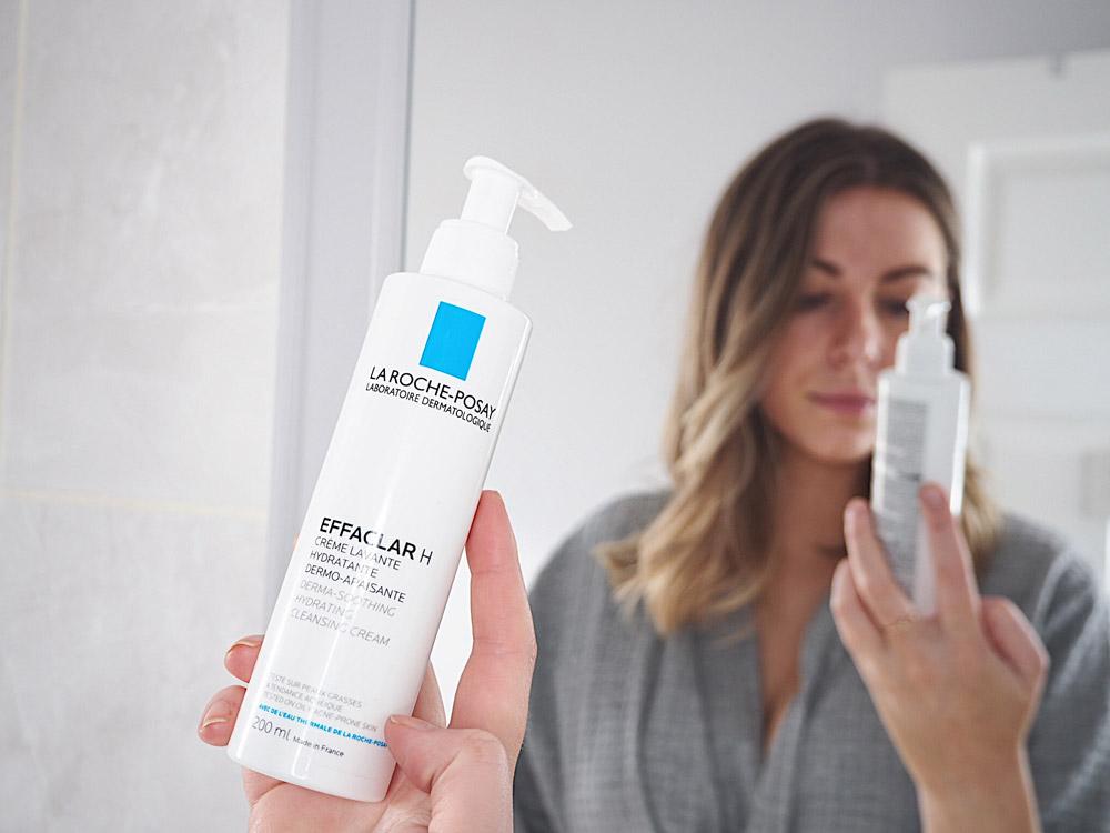 Sữa Rửa Mặt La Roche-Posay Effaclar H Derma-Soothing Hydrating Cleansing Cream không gây khô căng da sau khi rửa mặt