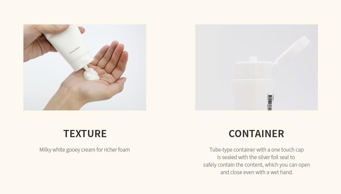Sữa Rửa Mặt Nacific Fresh Herb Origin Cleansing Foam Calendula có kết cấu dạng kem màu trắng sữa.