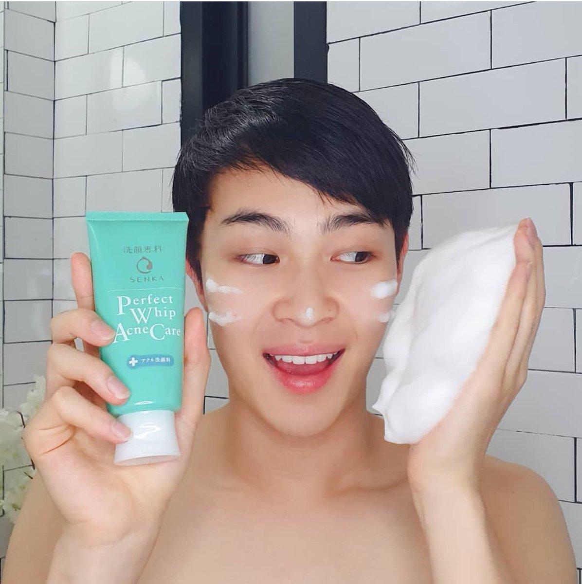 "Kết quả hình ảnh cho Sữa rửa mặt cho da mụn Senka Perfect Whip Acne Care 100g"""