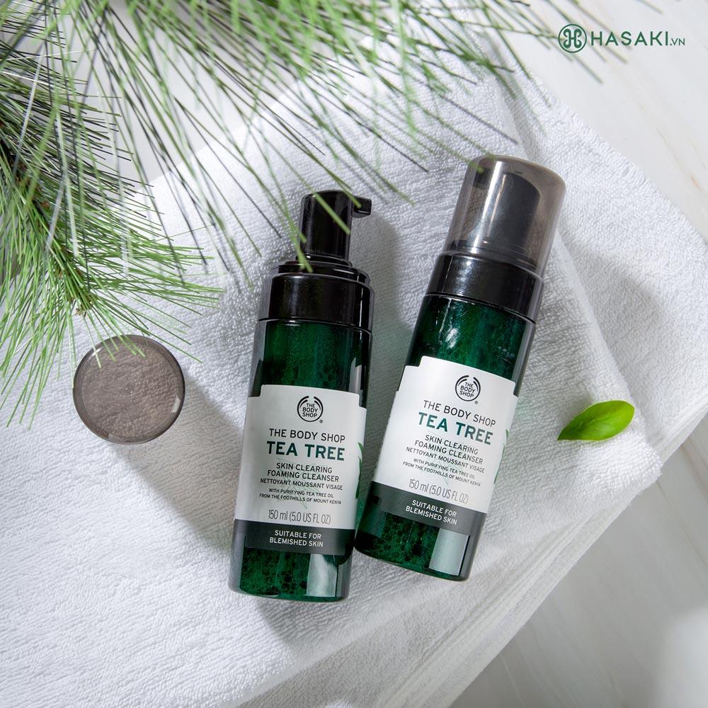 Sữa Rửa Mặt Tạo Bọt Dành Cho Da Dầu, Mụn The Body Shop Tea Tree Skin Clearing Foaming Cleanser