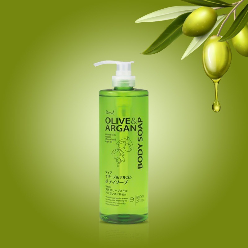 Sữa Tắm Chiết Xuất Dầu Olive & Argan Deve Body Soap 800ml hiện đã có mặt tại Hasaki.