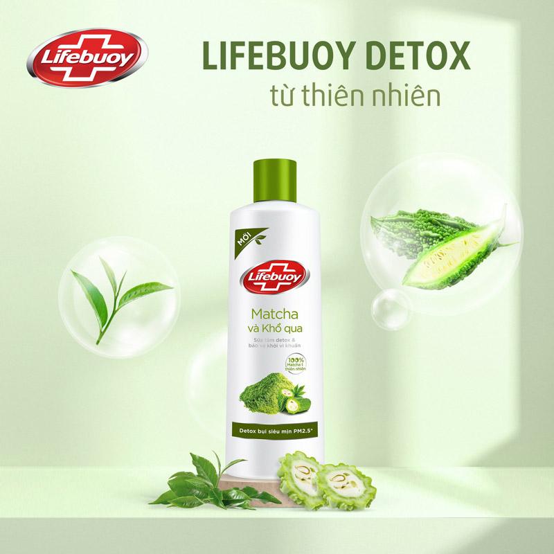 Sữa Tắm Lifebuoy Detox Và Bảo Vệ Khỏi Vi Khuẩn Matcha & Khổ Qua