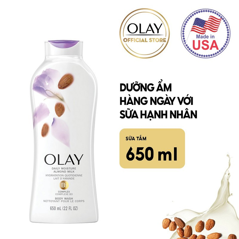 Mua Sữa Tắm Olay Daily Moisture Almond Milk Body Wash tại Hasaki