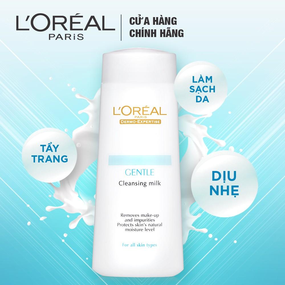 Sữa Tẩy Trang L'Oréal Dịu Nhẹ Cho Mọi Loại Da Gentle Cleansing Milk
