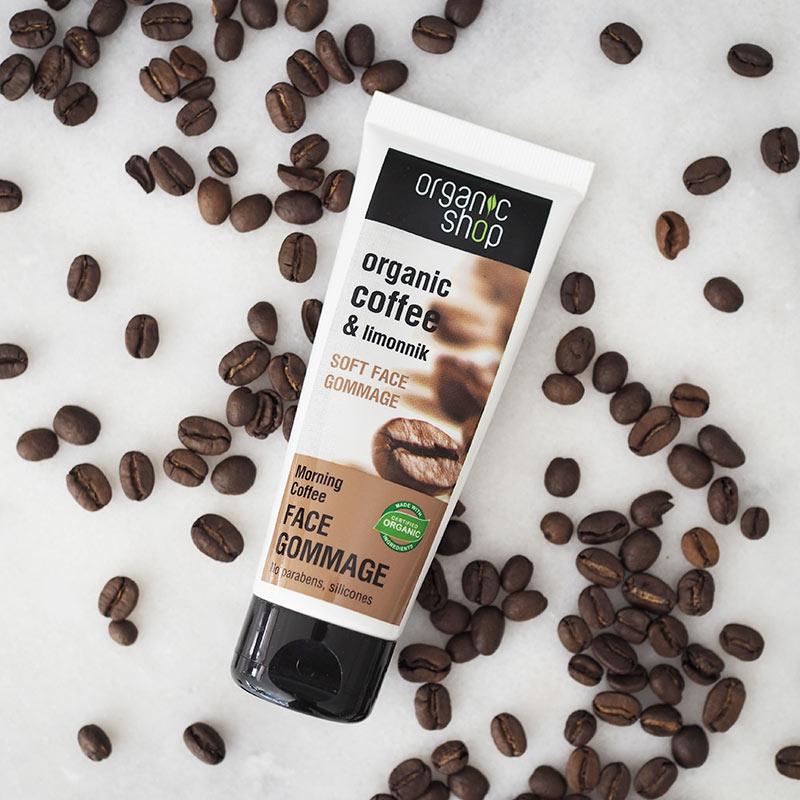 Tẩy Da Chết Cho Mặt Organic Shop Soft Face Gommage Morning Coffee (Hương Cà Phê)