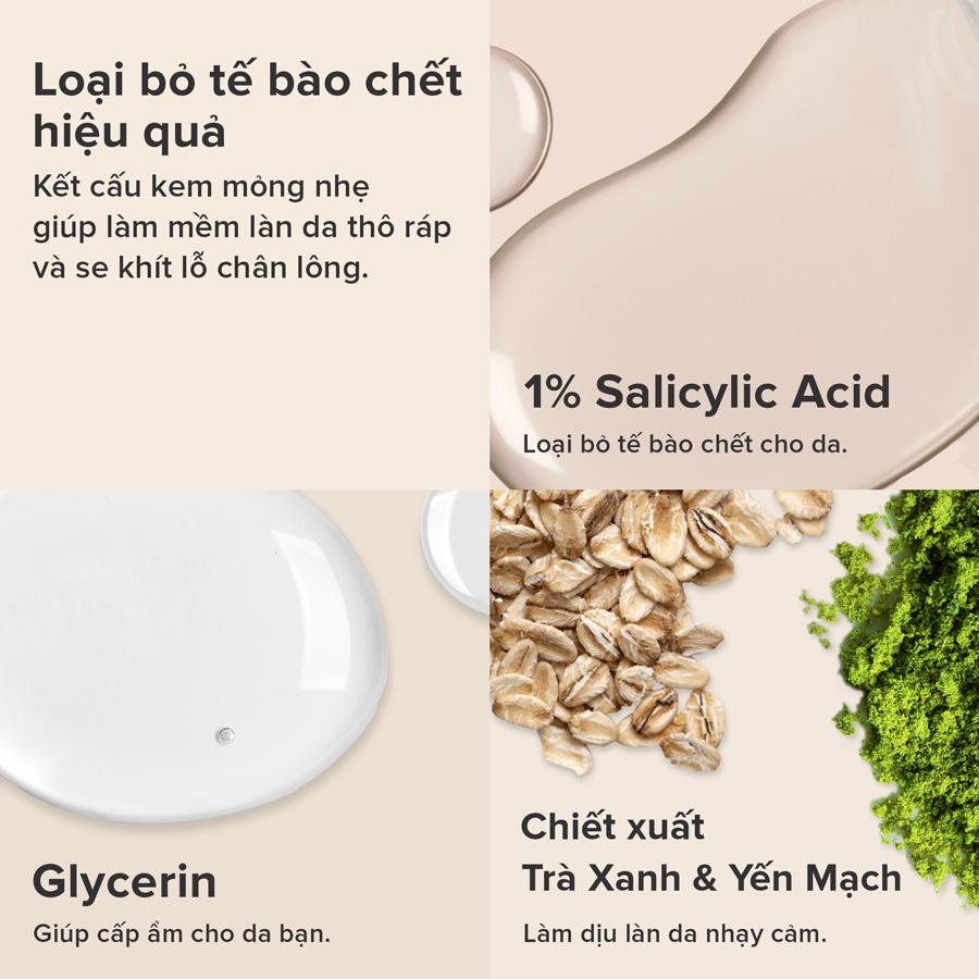 Tẩy Tế Bào Chết Paula's Choice Calm Redness Relief 1% BHA Lotion Exfoliant chứa 1% Salicylic Acid giúp loại bỏ tế bào chết dịu nhẹ.