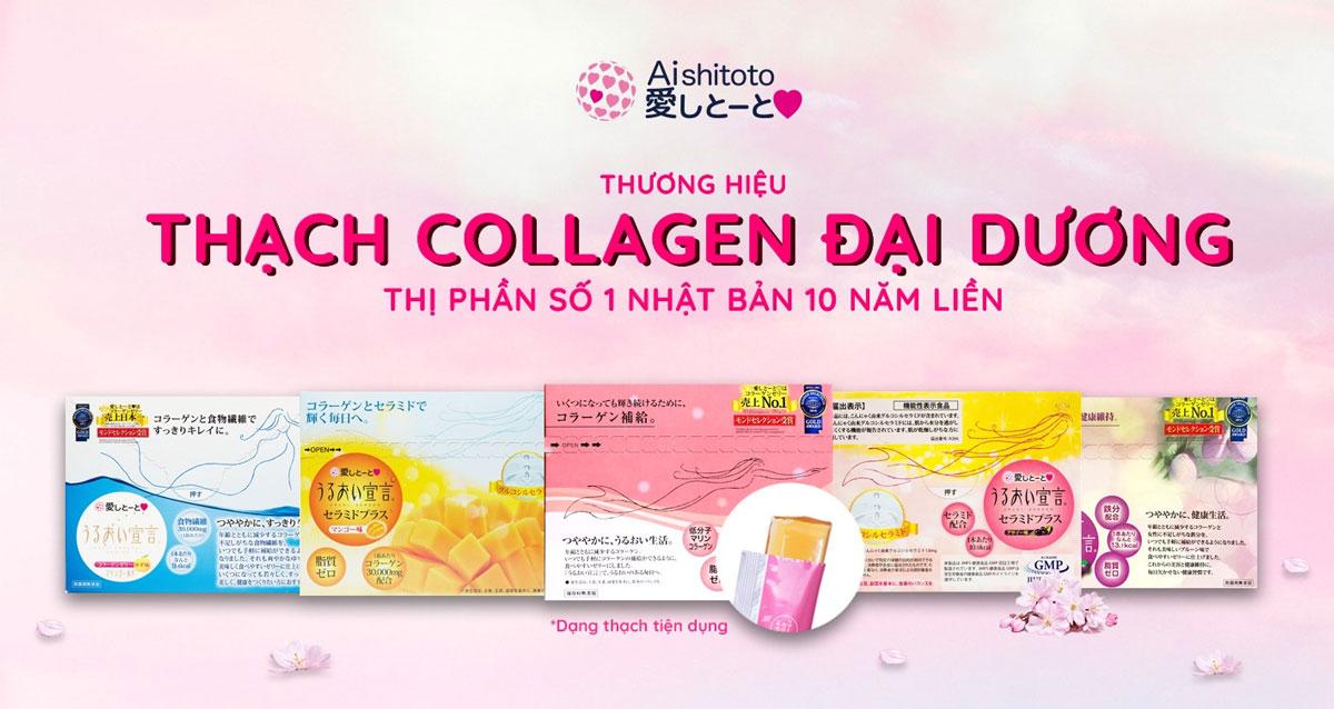 Thạch Bổ Sung Collagen AISHITOTO Collagen Jelly