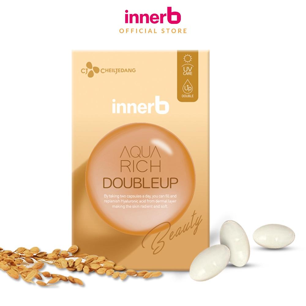 Viên uống giữ ẩm da sáng mịn InnerB Aqua Rich DoubleUp