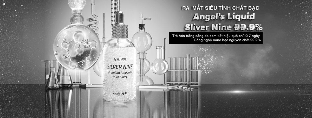 Tinh Chất Angel's Liquid 99.9% Silver Nine Premium Ampoule Pure Silver