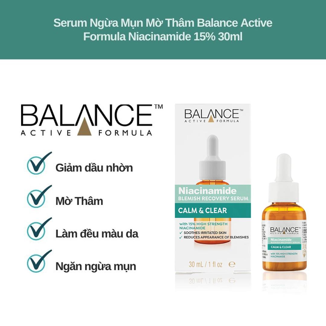 Tinh Chất Balance Active Formula Niacinamide 15% Blemish Recovery Serum Ngừa Mụn Mờ Thâm 30ml hiện đã có mặt tại Hasaki.