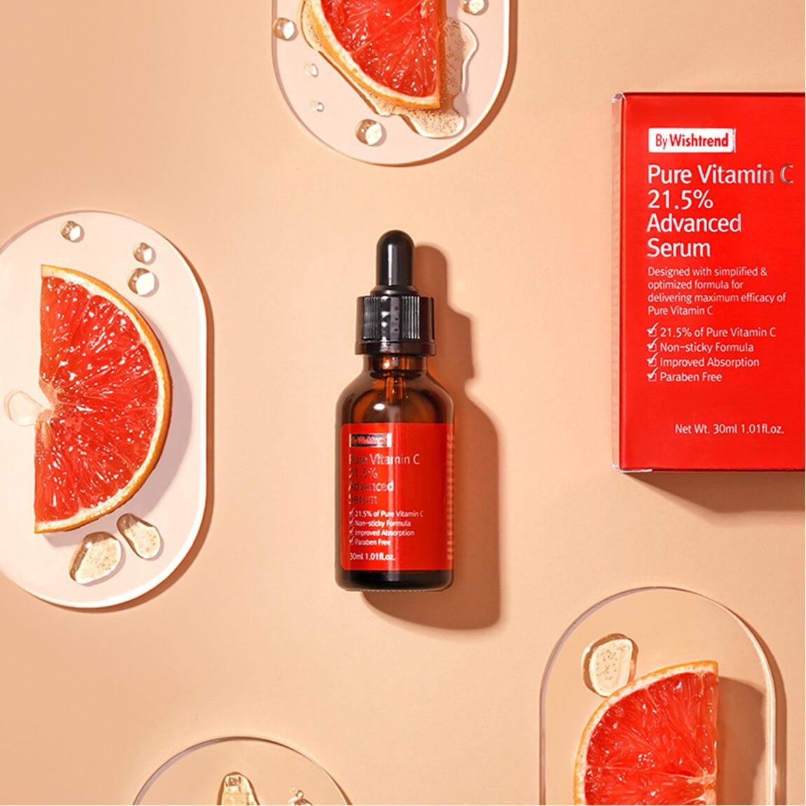 Tinh Chất Dưỡng Sáng Da, Ngăn Ngừa Lão Hóa Wishtrend C21.5 Pure Vitamin Advanced Serum