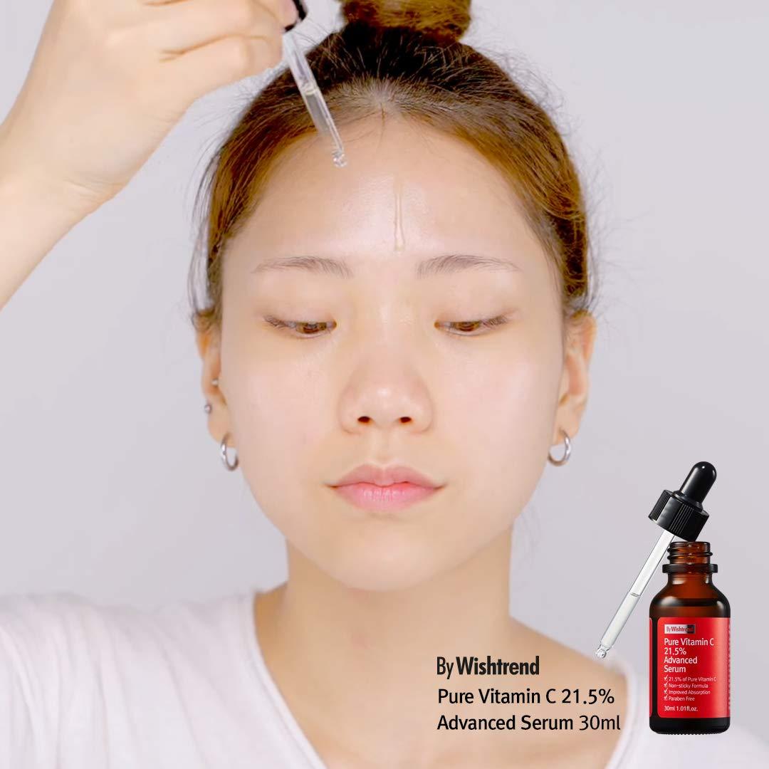 Tinh Chất Wishtrend C21.5 Pure Vitamin Advanced Serum giúp làm mờ thâm mụn, dưỡng sáng và làm đều màu da, đồng thời chống oxy hóa, kích thích sản sinh collagen, duy trì làn da tươi trẻ và đàn hồi căng mịn.