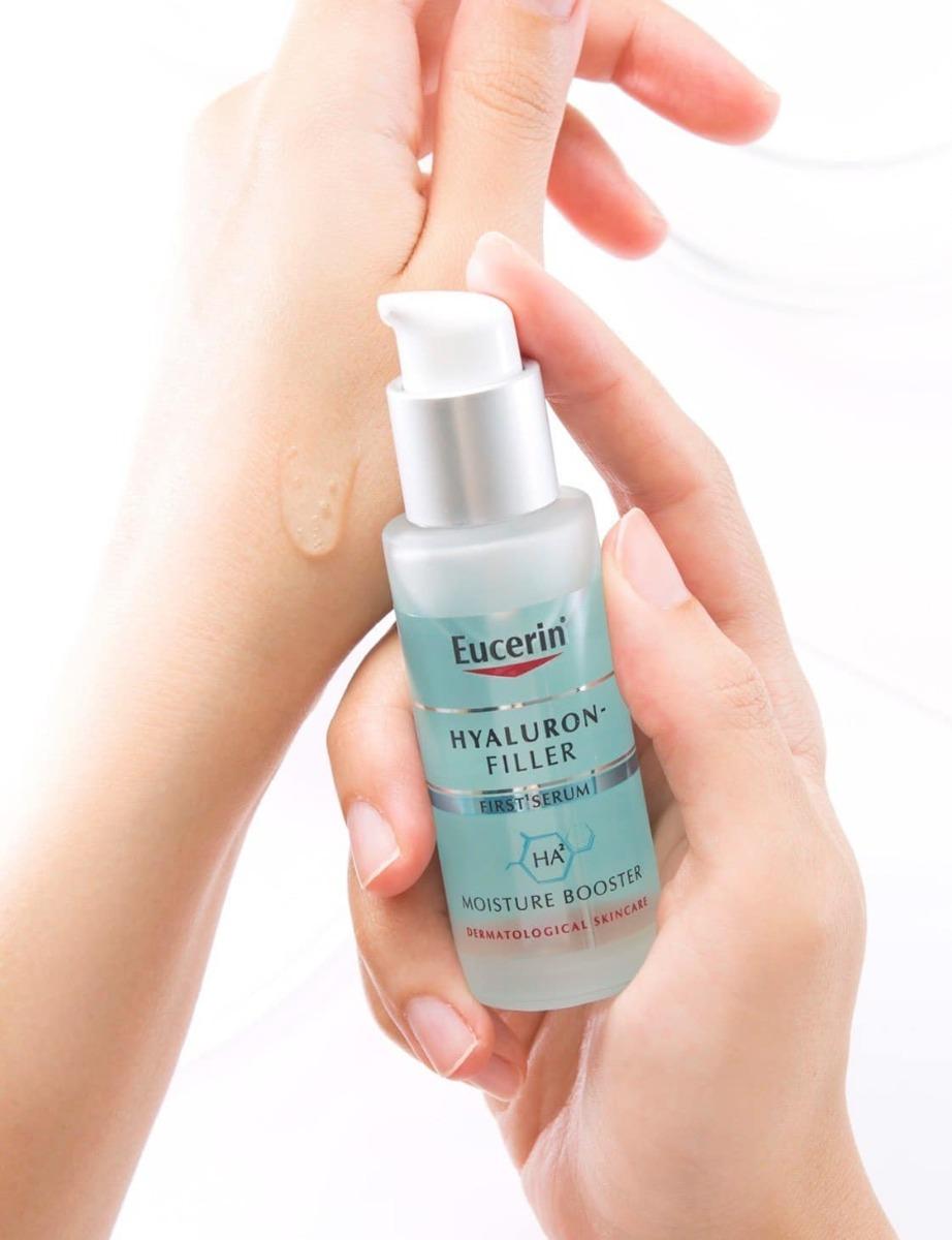 Tinh Chất Eucerin Hyaluron-Filler First Serum Moisture Booster có kết cấu dạng gel mỏng nhẹ và tươi mát