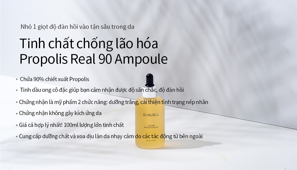 Tinh Chất Chống Lão Hóa Dr.NUELL Propolis Real 90 Ampoule chiết xuất Propolis