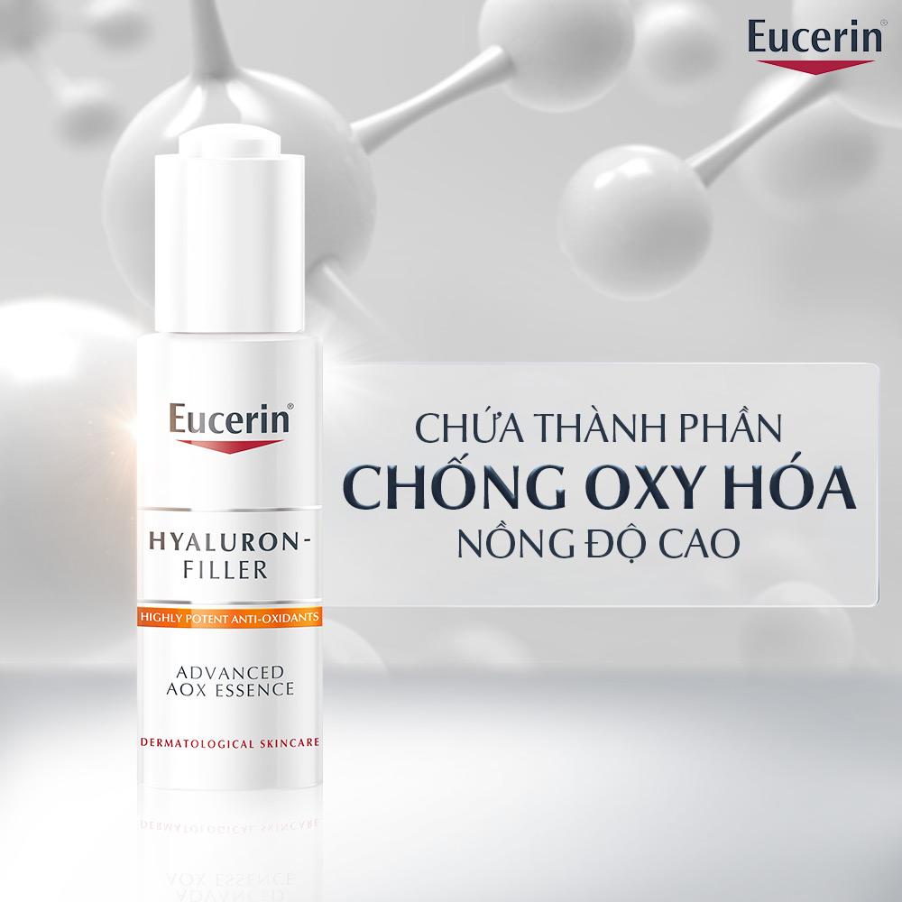 Tinh Chất Eucerin Hyaluron Filler Advanced AOX Essence Cải Thiện Dấu Hiệu Lão Hóa 30ml