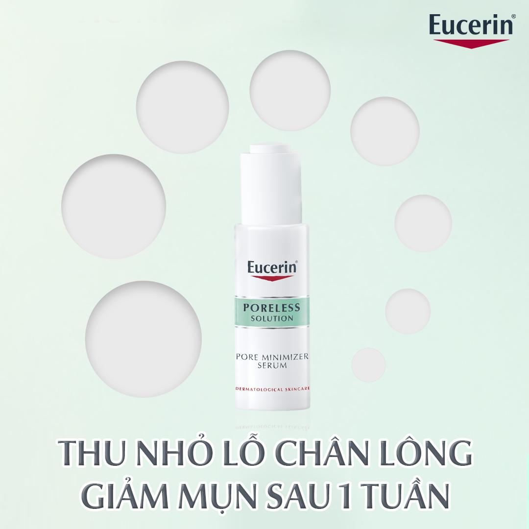 Tinh Chất Eucerin PORELESS Solution Pore Minimizer Serum Giúp Giảm Mụn, Thu Nhỏ Lỗ Chân Lông