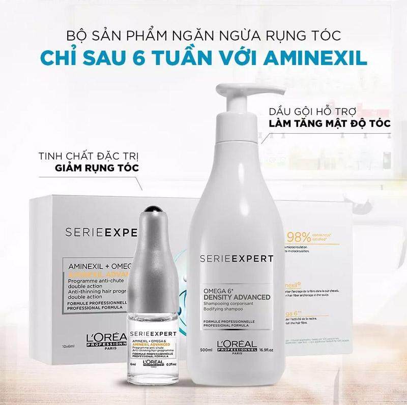 Bộ Sản Phẩm Ngăn Ngừa Rụng Tóc L'Oreal Professionnel Aminexil Advanced 10x6ml