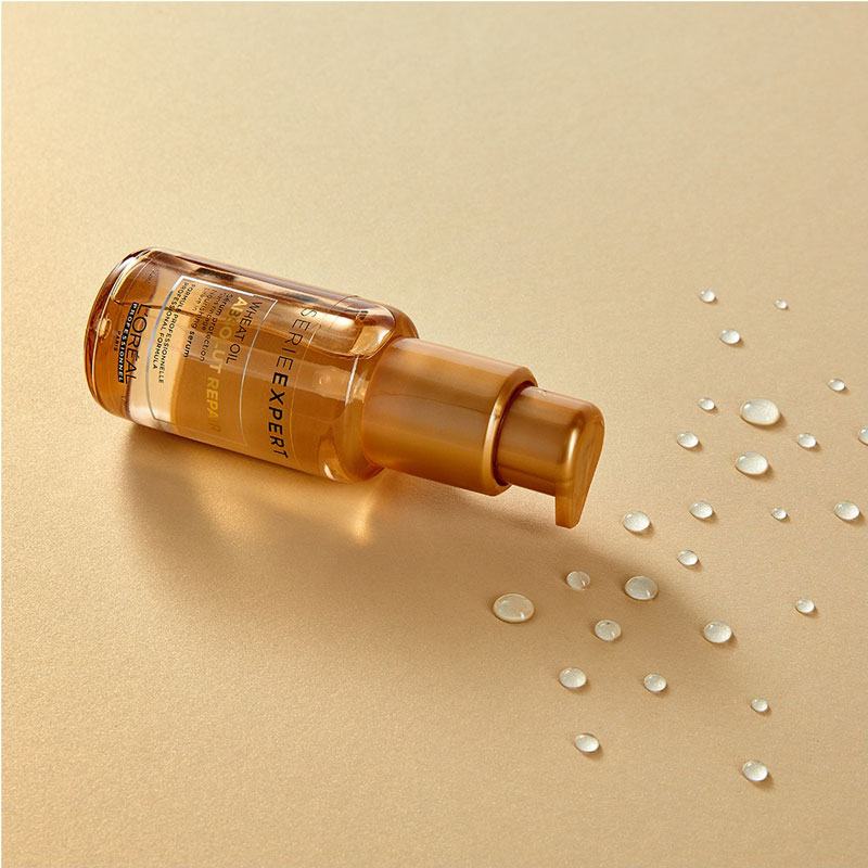 Tinh Chất Phục Hồi Hư Tổn Toàn Diện L'Oréal Professionnel Serie Expert Absolut Repair Gold Wheat Oil Serum