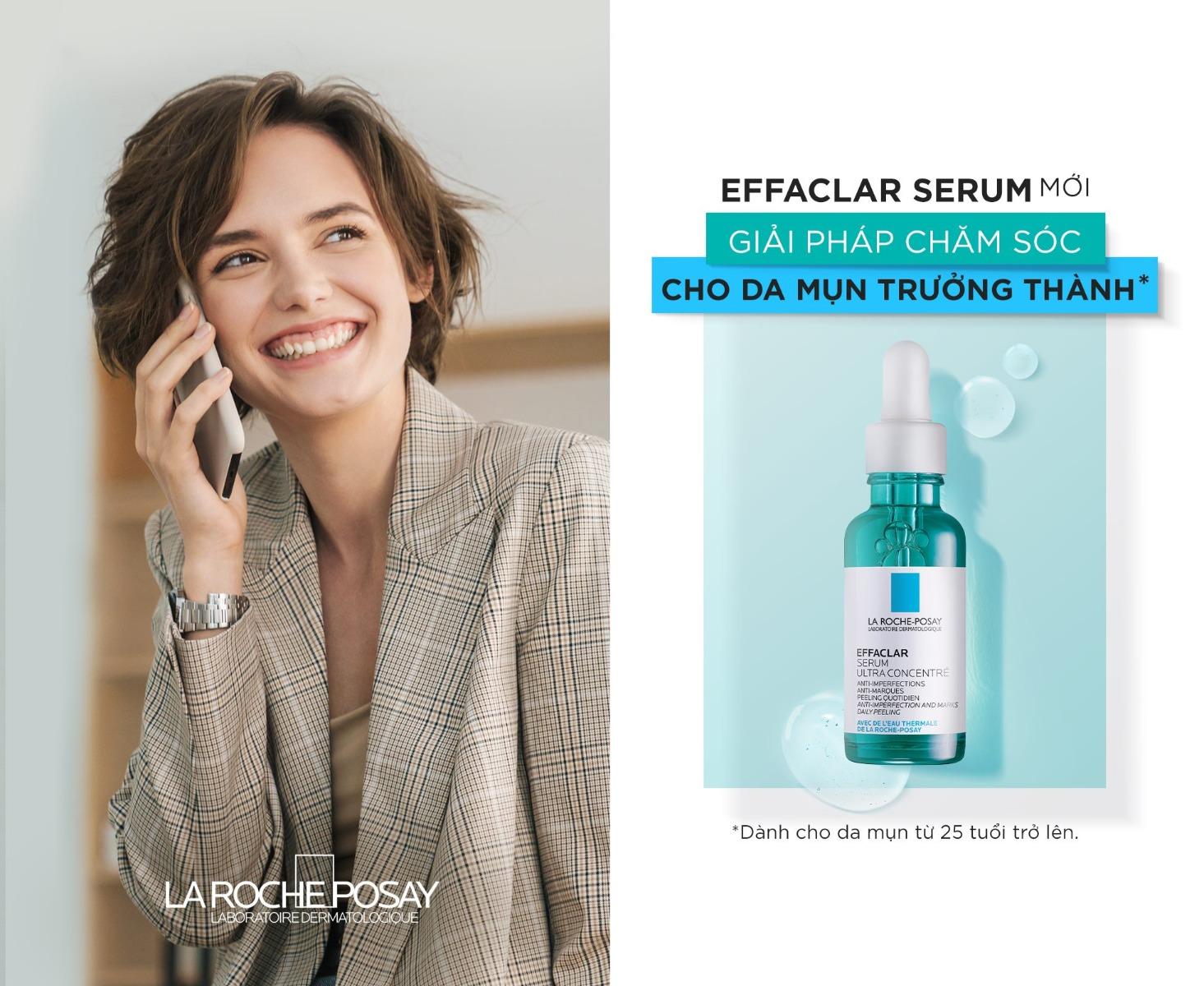 Tinh Chất Giảm Mụn La Roche-Posay Effaclar Serum phù hợp cho làn da trưởng thành bị mụn ở độ tuổi từ 25 trở lên.