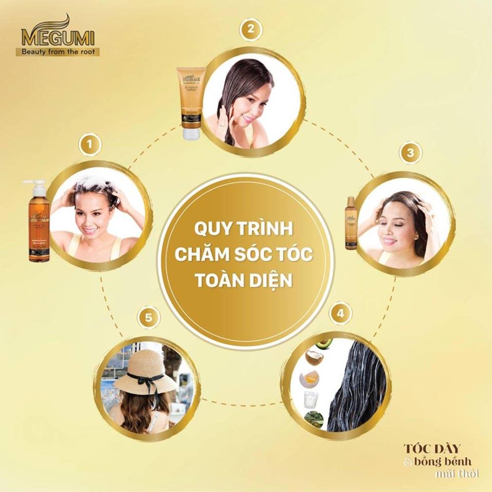 Sử dụng trọn bộ sản phẩm chăm sóc tóc Rohto Megumi để đạt hiệu quả ngăn gãy rụng tóc tốt nhất