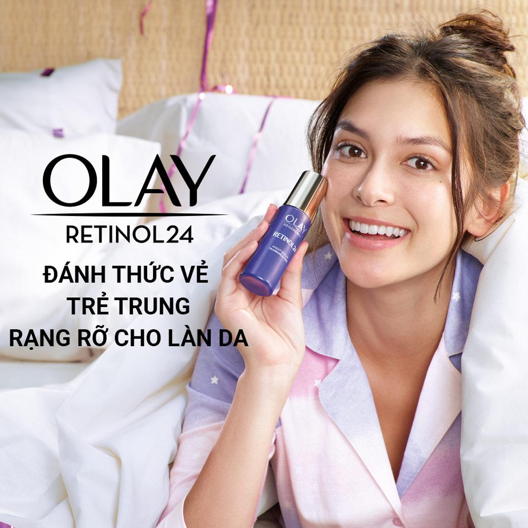 Tinh Chất Olay Regenerist Retinol 24 Night Serum Fragrance-Free 30ml