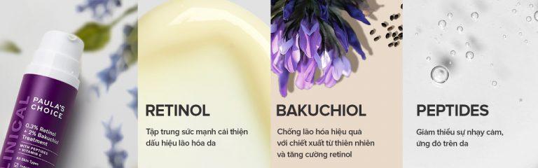 Kem Dưỡng Paula's Choice Retinol & Bakuchiol Ngừa Lão Hóa Chuyên Sâu Clinical 0.3% Retinol + 2% Bakuchiol Treatment