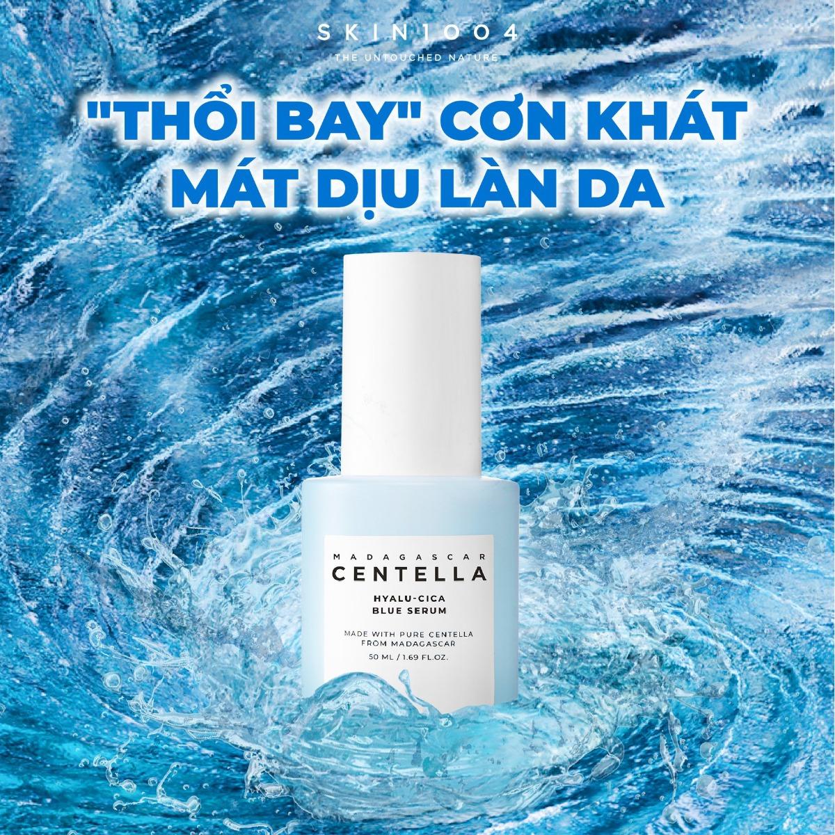Tinh Chất Skin1004 Madagascar Centella Hyalu-Cica Blue Serum Cấp Ẩm, Làm Dịu & Dưỡng Sáng Da