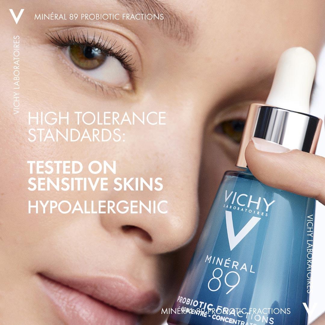 Tinh Chất Vichy Probiotic Minéral 89 Probiotic phù hợp cho cả làn da nhạy cảm.