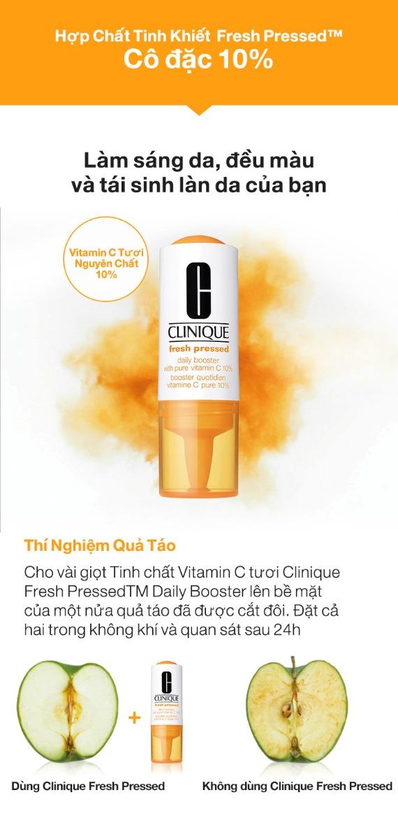 Tinh Chất Vitamin C Tươi Nguyên Chất Clinique làm sáng da, đều màu và tái sinh làn da