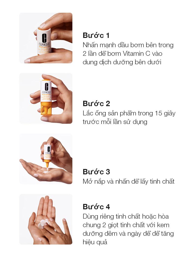 Tinh Chất Vitamin C Tươi Nguyên Chất Clinique giúp giữ cho Vitamin C luôn nguyên chất