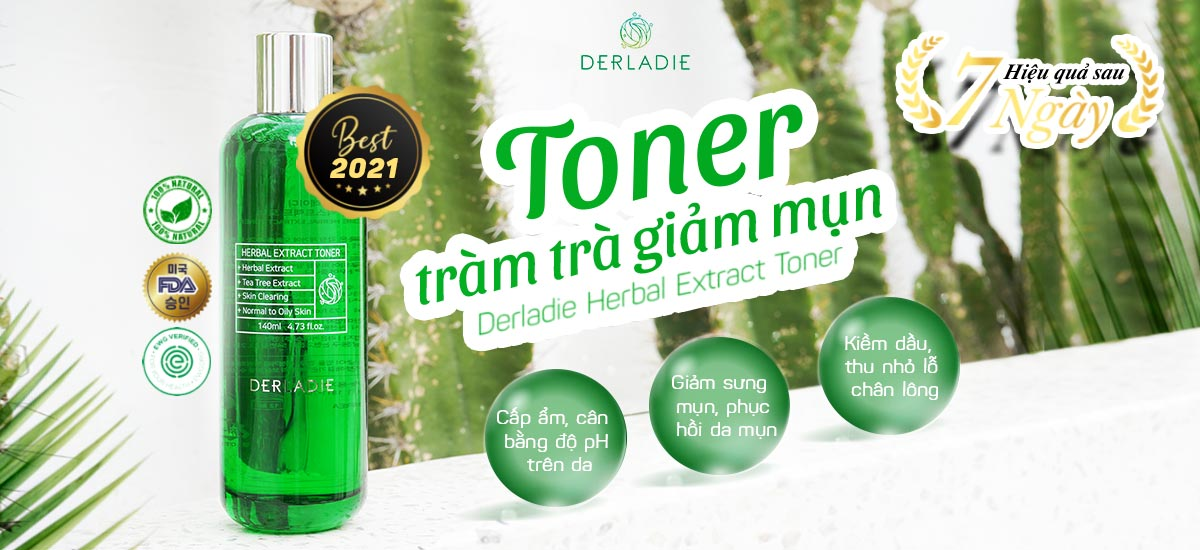 Nước Cân Bằng Derladie Herbal Extract Toner